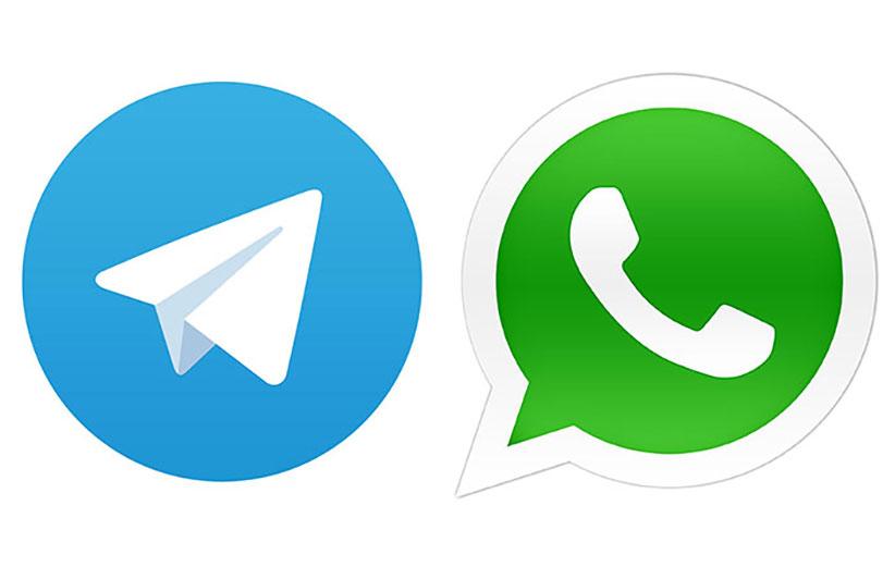 واتس اپ» در حال سبقت از «تلگرام»